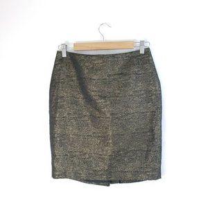 Forever 21 Gold Metallic Pencil Skirt 6